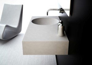 Neo 1000 Bathroom Basin Offset Bowl