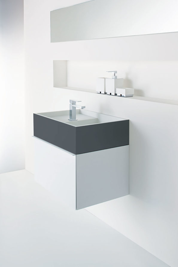 CDesign 620 basin and cabinet with Softskin