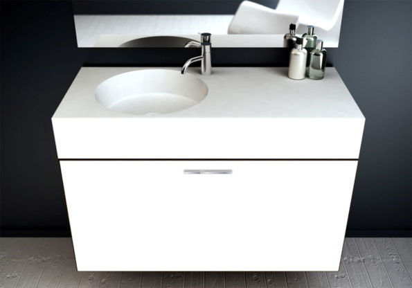Solid Surface Basin Neo 1000 Offset Bowl