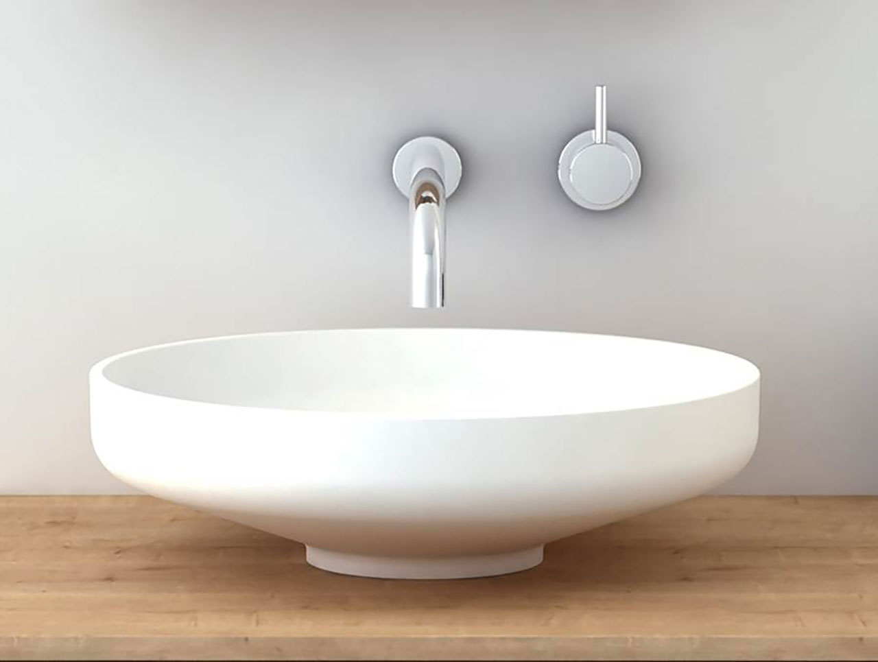 Omvivo Venice 450 Basin Luxury Solid Surface Basins