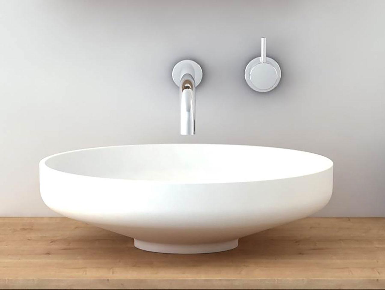 Top Mount Bathroom Sink Round