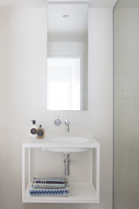 Arki 700 Wall Hung Bathroom Basin with custom cabinet Emerald Apartments