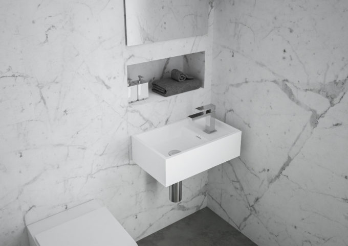 Omvivo CDesign Micro 485 Wall Hung Basin