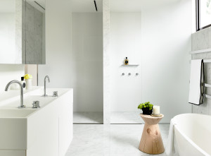 Walsh Street CDesign Bathroom Basin with cabinetry Carr Design Group & Neometro