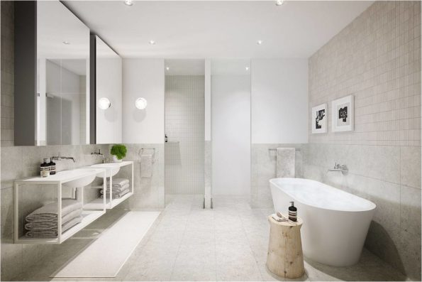 Arki 700 Basin with Custom Vanity Emerald Apartments