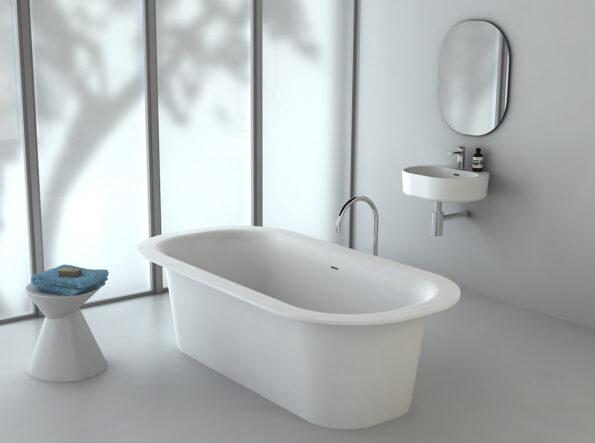 Omvivo Lilli Mirror with Lilli Bath and Basin