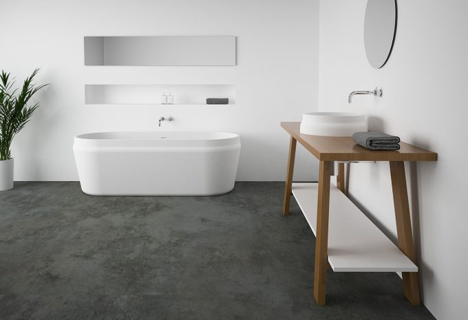 Omvivo Latis Basin on Latis Timber Trestle with Latis Oval Bath