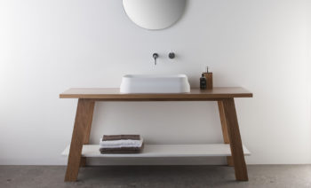 Latis rectangular basin on timber trestle