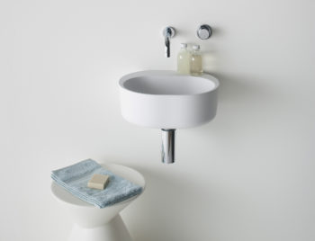 Lilli 400 wall basin with Lala stool_thumb