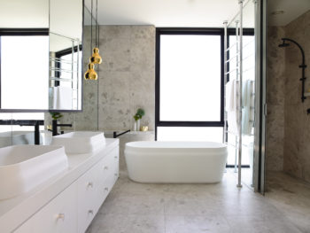 Chambers Street Latis Rectangular Basins and Latis Oval Bath MIM Design
