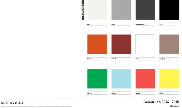 Omvivo Tom and La La Stools Colour Chart