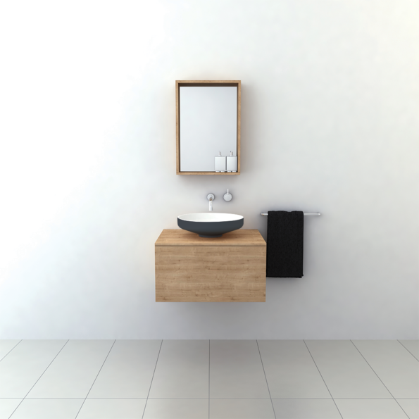 Omvivo Venice 450 Basin with Charcoal Softskin