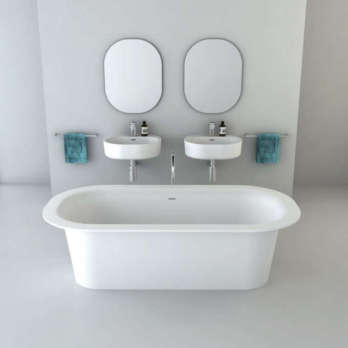 Omvivo Lilli Bath and Lilli 550 Basins