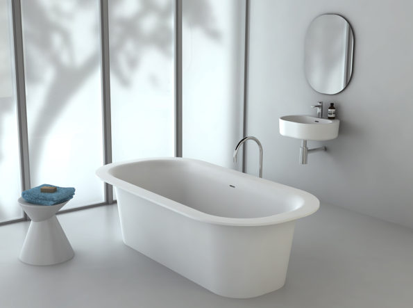 Omvivo Lilli Mirror with Lilli 550 Basin and Bath