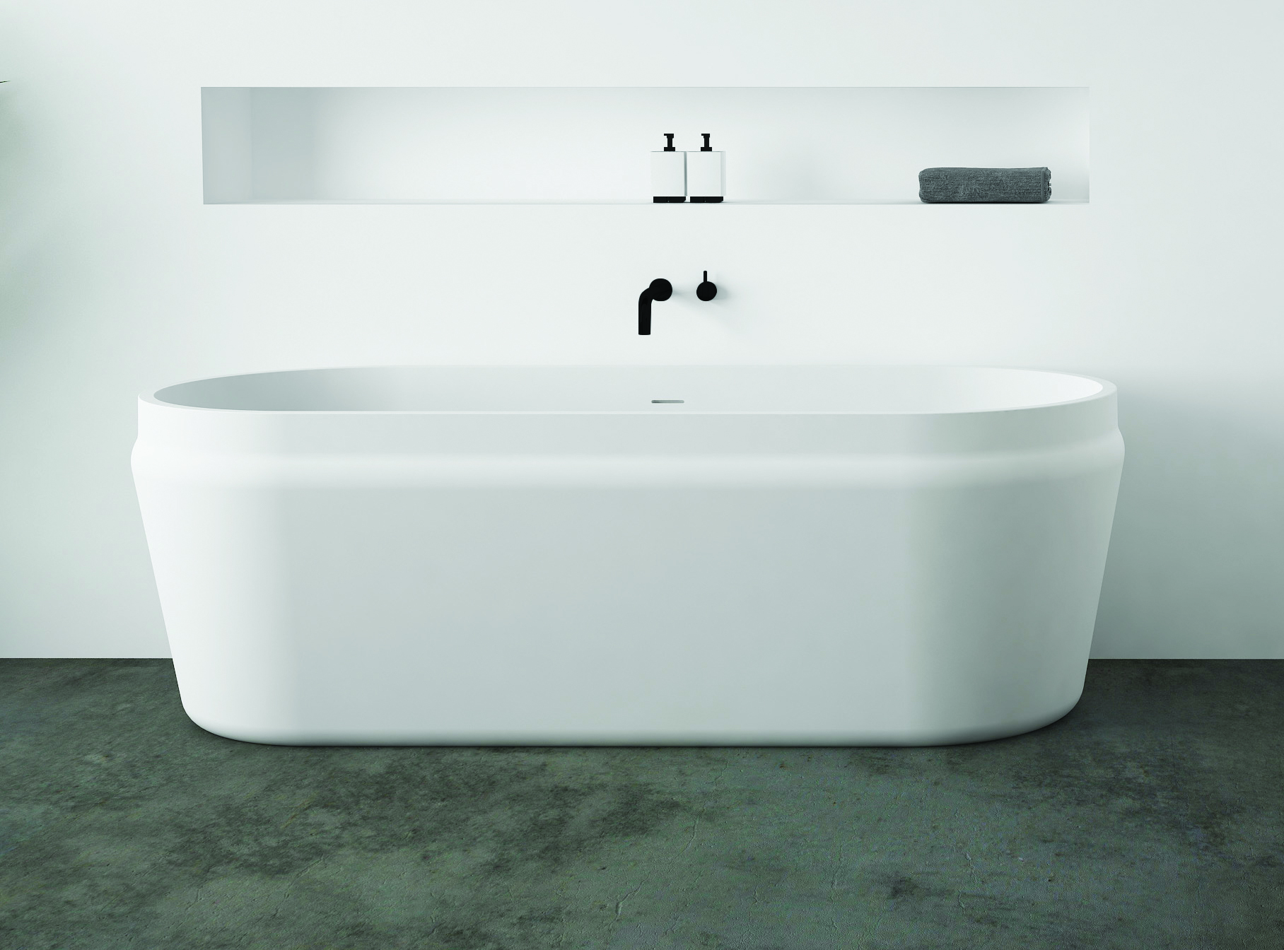Latis Oval Bath Solid Surface