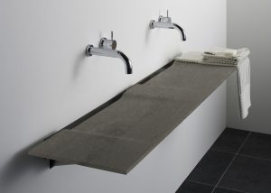 Omvivo Linea Washplane in Solid Surface Roma