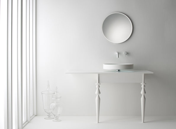 Omvivo Motif Vanity with Motif Mirror