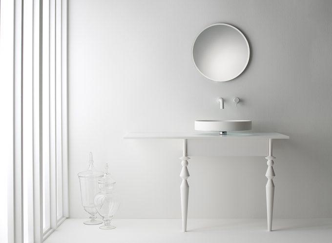Omvivo Motif Vanity with Motif Mirror