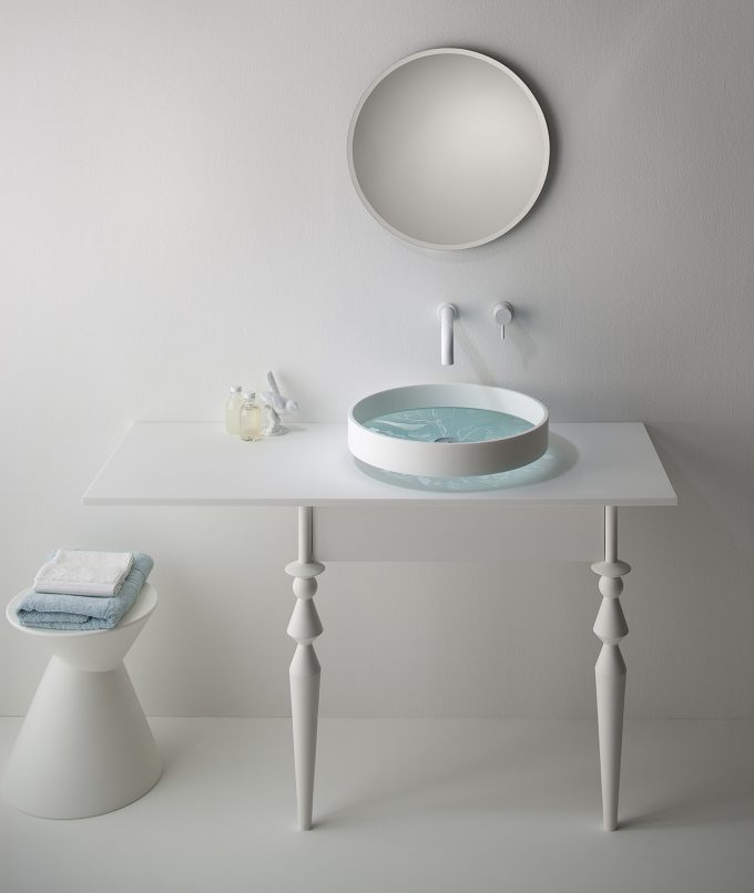 Omvivo Motif Forest Basin with Motif Vanity and Mirror