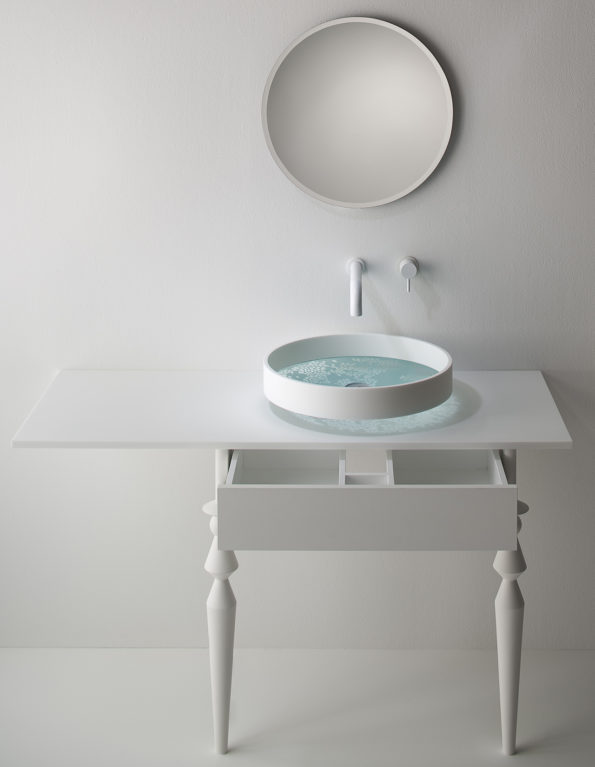 Omvivo Motif Pebble Basin on Motif Vanity