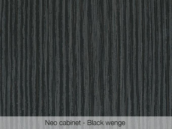 Omvivo Neo Cabinet Black Wenge Swatch