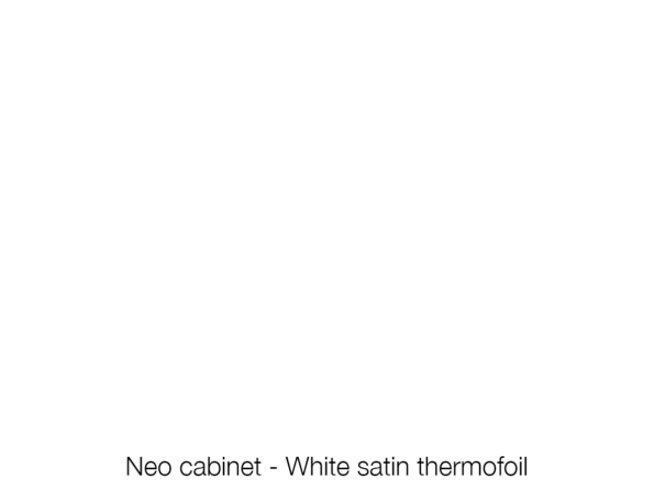 Neo Cabinet White Satin Swatch