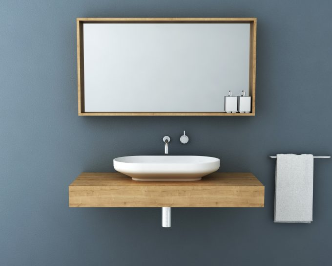 Omvivo Venice Vanity with Box Frame Mirror