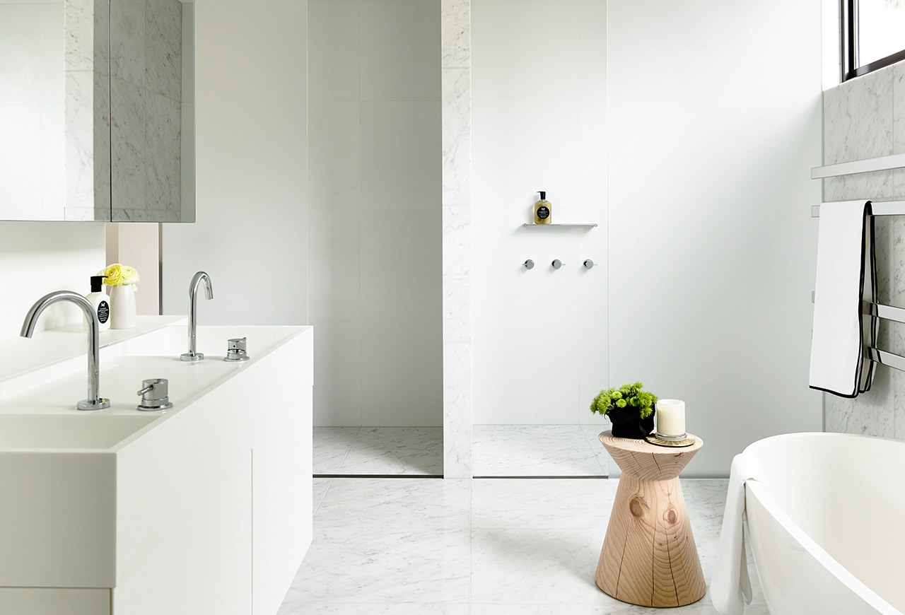 CDesign Basin with Custom Cabinetry Walsh St_Carr Design Group & Neometro