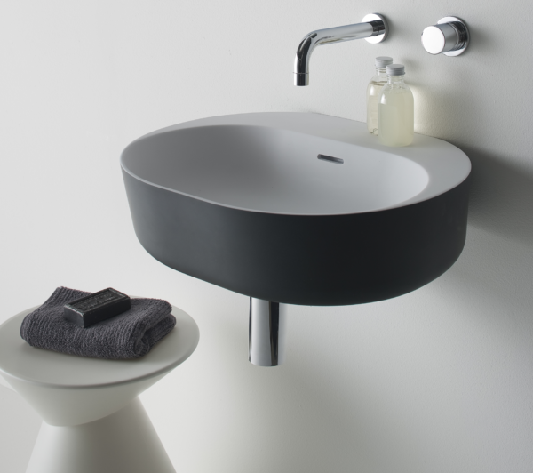 Omvivo Lilli 550 Basin with Charcoal Softskin