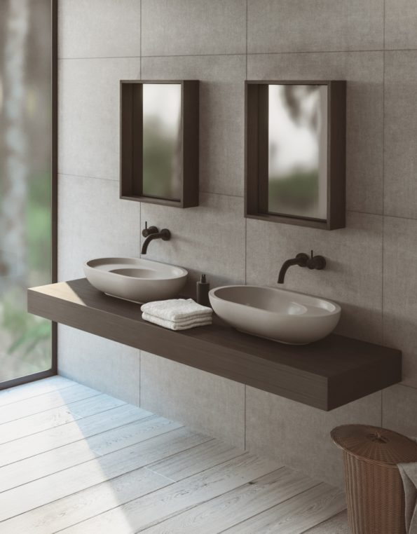 villa cove grey 600 basin